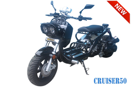 Black Tao Tao cruiser scooter rental